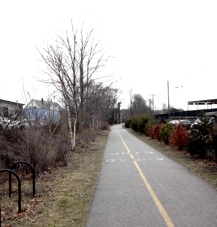 Watertown Greenway, looking south